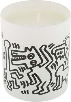 Keith Haring Scented Candle - Men Drawing - White