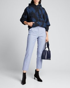 Small Grid Print Trousers