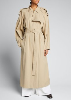 Compact Cotton Classic Trench Coat