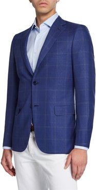 Double Windowpane Two-Button Jacket