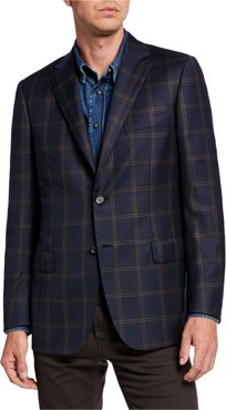 Two-Tone Plaid Two-Button Jacket