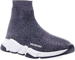 Speed Heathered Knit High-Top Sock Sneakers