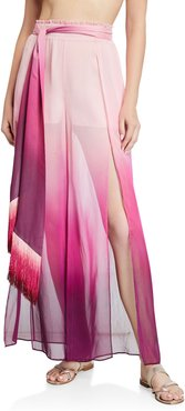 Ombre Wide-Leg Pants