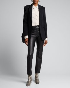 Cindy Stretch Leather Pants