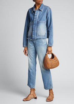 High-Rise Relaxed Straight Carpenter Jeans
