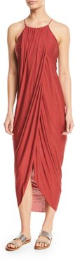 Serlina Draped Sleeveless Maxi Dress