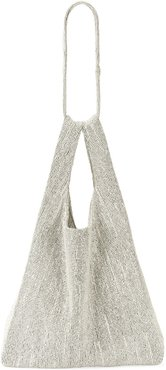 Crystal-Embroidered City Tote Bag