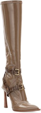 Neoprene To-The-Knee Boots, Brown
