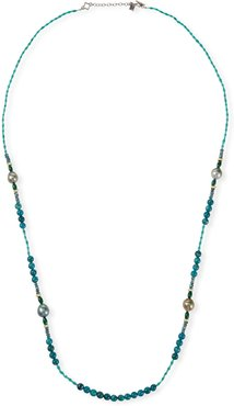 "Old World Pearl Mixed-Bead Long Necklace, 36""L"