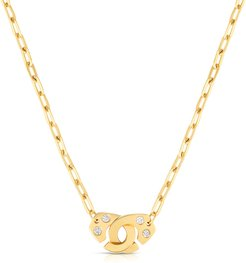 Extra Large Partners in Crime 18k Gold Necklace w/ Diamonds