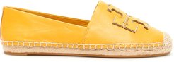 INES LEATHER ESPADRILLES 10 Yellow Leather