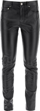 LEATHER TROUSERS 36 Black Leather