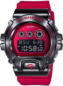 49mm Men's Casio G-Shock Watch with Red Dial and Red Strap