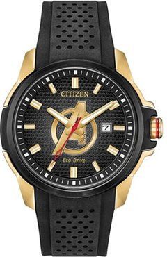 45mm Men's Citizen Eco-Drive® Marvel Classic Avengers Watch with Black Dial and Black Strap