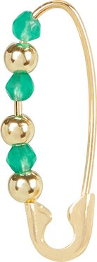 Friendship Safety Pin Earring, Gold 1SIZE