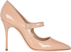 Campari Patent Mary Jane Pumps, Beige 38