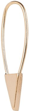 Mini Triangle Safety Pin Single Earring, Gold 1SIZE