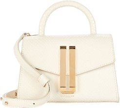 Nano Montreal Snake-Embossed Bag, White 1SIZE