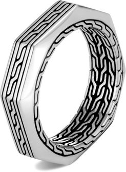 Classic Chain 6MM Band Ring in Sterling Silver