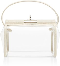 Water Leather-Trimmed PVC Bag