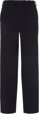 Straight-Leg Wool Pants