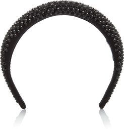 Crystal-Embellished Silk-Satin Headband