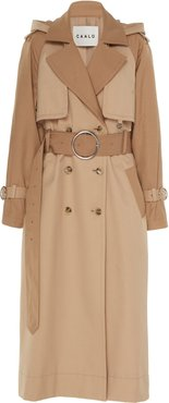 Long Hooded Trench Coat