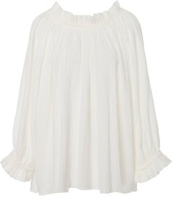 Leonie Ruffled Cotton Blouse