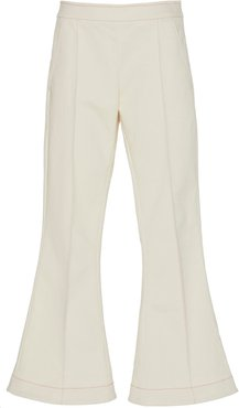 Meet Me At Seven Cropped Cotton Flared Pants