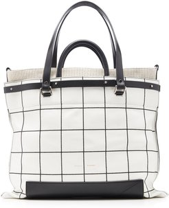 PS19 Small Plaid Leather Tote Bag