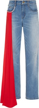 Carrington Stretch Mid-Rise Straight-Leg Jeans