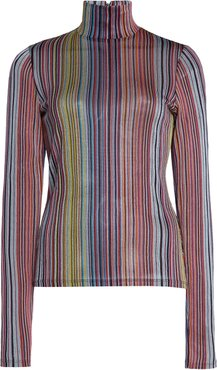 Mena Striped Jersey Turtleneck