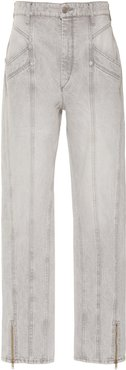 Kelissa Rigid High-Rise Straight-Leg Jeans