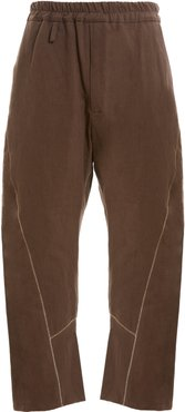 Hiro Embroidered Linen Trousers