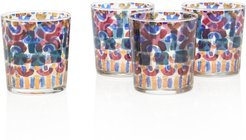 Set-of-4 Multi-Color Drinking Glasses