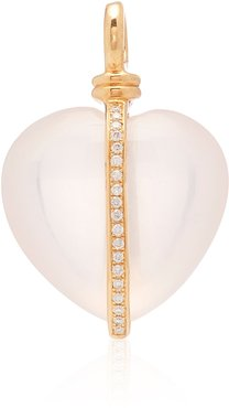 Wrapped Heart 18K Gold and Diamond Necklace