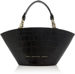 Small Croc-Effect Leather Tote