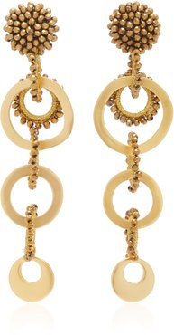 Salento Gold-Plated and Crystal Earrings