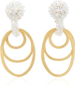 Nuqui Gold-Plated, Bead and Silk Earrings