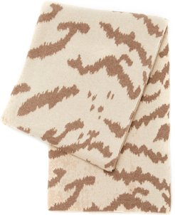 Calabria Animal-Print Cashmere Throw