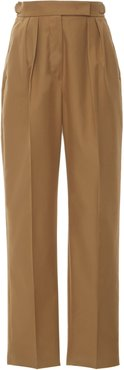 Polonia Cotton-Gabardine Cropped Slim Pants