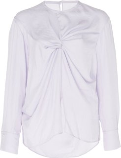 The Opal Draped Lurex Top