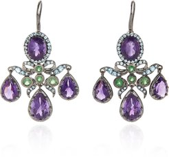 Medora Girandole 14K White Gold And Multi-Stone Earrings