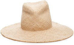 Re-Commando Leather-Trimmed Straw Hat