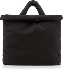 Oil Padded Cotton-Blend Tote Bag