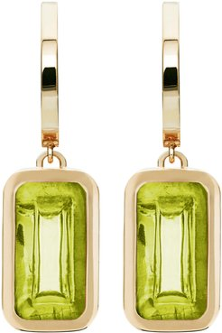 Pfefferminz Peridot 14K Yellow Gold Hoop Earrings