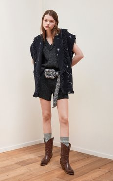 Alanui Faraway From Home Fringed Jacquard-Knit Vest