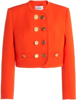 George Keburia Cropped Double-Breasted Blazer