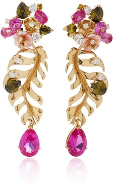 18K Gold Vermeil And Multi-Stone Earrings