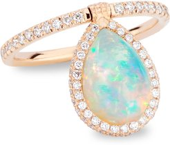 Medium 18k Rose-Gold, Opal and Diamond Flip Ring